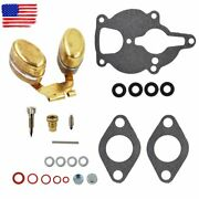 Carburetor Kit And Float For Zenith Wisconsin Engine Vh4d Vhd Tjd Replaces Lq39