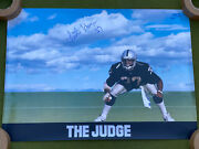 Signed Oakland Raiders Lester Hayes The Judge Nike Vintage Poster Football