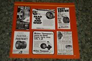 ★1969-72 Racing Tire Ads Picture Feature Print 70s Mickey Thompson Formula 1-2