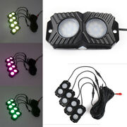 Led Rock Lights Wireless 4 Pods Rgb Fit Atv Suv Off-road Multi-color