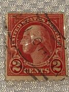 Very Rare 1900and039s Red George Washington 2 Cent Us Postage Stamp