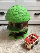 Vtg General Mills Kenner Treehouse Tree Tots Family House Fisher Price Bus Van