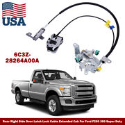 Passenger Side Door Latch Lock Cable For 99-07 Ford F250 350 450 550 Super Duty