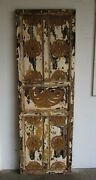Antique Carved Single Mexican Old 15-primitive-rustic-25.5x76.5x1.5-barn Door