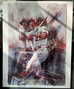 2021 Topps Project 70 Mike Trout By Chuck Styles Metal Print Auto 1/1 24x30
