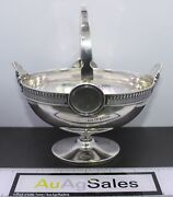 Antique C. 1851 Ball Black And Co Sterling Silver Handled Footed Basket Candy Dish