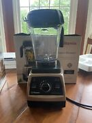 Vitamix Professional 750 64oz Blender - Pearl Grey + Brand New 48oz Container