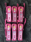Lot Of 6 Nintendo Wii Remote Motion Plus Peach Tested