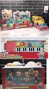 Cocomelon Toys Combo Doll Dr. Kit Bus Keyboard And Family Pack Of 4