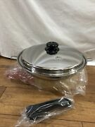 Saladmaster 316ti Titanium Stainless Waterless 12andrdquo Fry Pan With Lid New