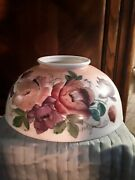 Antique Large Hand Painted Glass Lamp Shade 14