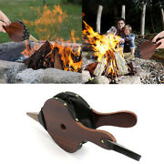 Vintage Hand Bellow Fireplace Air Blower Manual Barbecue-fire-bellows Pump Tool
