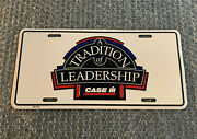 Case Ih License Plate A Tradition Of Leadership Metal Dated 2002 Tractor Rare