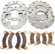 Front And Rear Riptide Rotors And Mudrat Brake Pads 2017-20 Polaris Rzr Xp Turbo