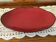 Southern Living At Home Cinnabar Platter Never Used 17 Inches Long