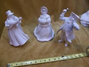 Department 56 Ceramic Bisque Christmas Carol Like Figures Man Woman Town Cryer