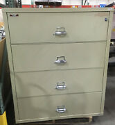 Fire King / Fireking 4 Drawer Lateral Fireproof File Cabinet Mcid 76893