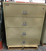 Fire King / Fireking 4 Drawer Lateral Fireproof File Cabinet Mcid 77169