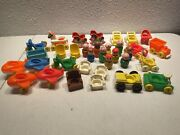 Little People Vintage Fisher Price Toy Lot Airplane Rocking Horse Chair 34 Piece