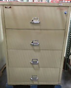 Fire King / Fireking 4 Drawer Lateral Legal Fireproof File Cabinet Mcid 77161