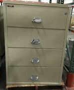Fire King / Fireking 4 Drawer Lateral Legal Fireproof File Cabinet Mcid 77159