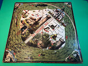 Game Of Bamboozle Or The Enchanted Isle Milton Bradley Game Board 1872 Antique