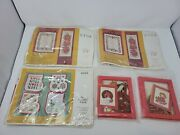 Lot Of 5 New Vintage Cross Stitch/embroidery Kits Christmas Stockings/poinsettia