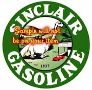 1937 Sinclair And039eand039 Gasoline T-shirts With Racing Flags Gas Gasoline Signs Decals