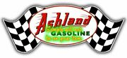 Ashland And039band039 Gasoline Contour Cut Vinyl Decals Sign Stickers Motor Oil Gas Globes