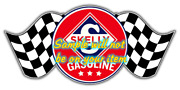 Skelly And039band039 Gasoline Vinyl Decals Sign Stickers Motor Oil Gas Globes
