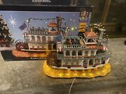 Very Rare Retired Lemax Carole Towne Collection River belle River Boat