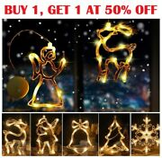 Christmas Led Lights Indoor Window Decorations With Suction Cup Xmas Decor Usa