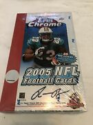 2005 Topps Chrome Football Sealed Hobby Box, 24ct Packs, Aaron Rodgers Rookie