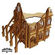 Knights Of Dice Terrain 28mm Gothic Ruins - Cathedral 2 Pack Sw