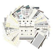 30pc/set Gold Flake Silver Chrome Nail Stickers Decal For Nail Art Decorations