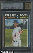 2020 Topps Heritage Real One Bo Bichette Rc Red Auto Jersey 11/71 Bgs 9