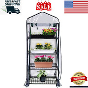 4 Tier - Mini Portable Greenhouse - Ideal For Seed Germination 27 X 19 X 62 Inch