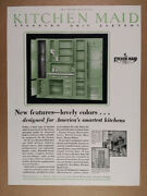 1929 Kitchen Maid Standard Unit Systems Cabinets Cupboards Vintage Print Ad