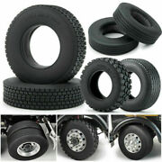 Rubber Tyres Wheel Tires Front Rear For Tamiya 114 Rc Car Trailer Tractor Truck