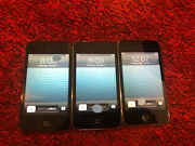 Lot Of 3x Apple Ipod Touch 4th Generation 8gb - Black - Lcd Issues A77