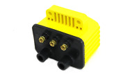Accel Yellow Single Fire Super Coil For Harley Softail Dyna Sportster Touring Ba