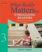 What Really Matters For Struggling Readers Designing Research-based Program...