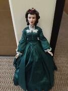 Franklin Mint Scarlett Christmas Vinyl Doll 16 Le/1000 With Stand