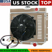 4 Rows Radiator+shroud Fan+relay For 67-69 Ford Mustang/67-68 Mercury Cougar