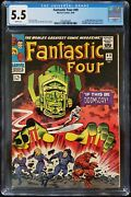 Fantastic Four 49 Cgc 5.5 1st Galactus 2nd Silver Surfer - White Pages Wow