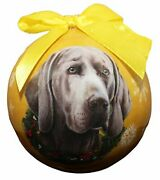 Weimaraner Christmas Ornament Shatter Proof Ball Easy To Personalize A Perfect