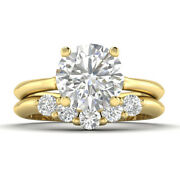 1.4ct D-si1 Diamond Vintage Engagement Ring 14k Yellow Gold Any Size