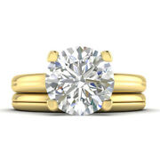 1ct G-vs1 Diamond 4-prong Engagement Ring 18k Yellow Gold Any Size