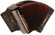 Hohner Cxgb Corona Ii Xtreme Accordion Key Of Gcf In Black With Bag And Straps