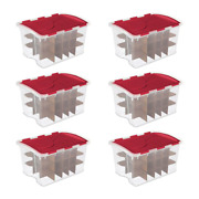 Ornament Storage Boxes [6-pack] 48 Qt. Hinged Lid 270 Total Capacity Christmas